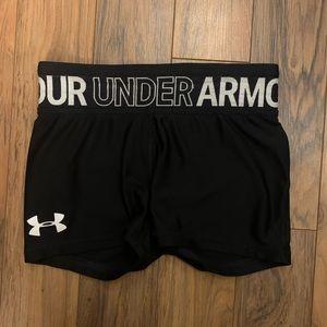 Girls under amrour  shorts